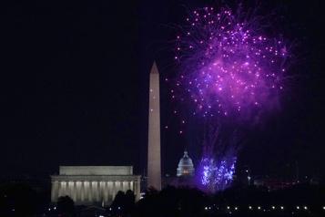 Vedettes et feux d'artifice pour célébrer l'investiture de Joe Biden)