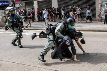 Manifestation contre la loi sur la sécurité à HongKong)