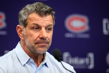 Marc Bergevin émotif en parlant de Gallagher)