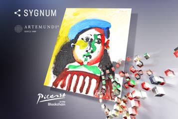 Un Picasso en vente sous forme de jetons numériques)