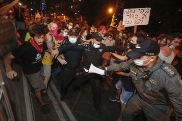 Isra?l Des manifestants anti-Nétanyahou dans les rues malgré les restrictions sanitaires)