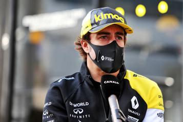 Fernando Alonso victime d'un accident de vélo en Suisse)