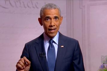 «Je n'ai jamais perdu l'espoir»: Obama entre en campagne pour Biden)