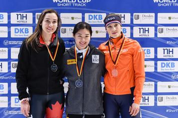 Patinage de vitesse: médaille d'argent pour Courtney Sarault au 1000m