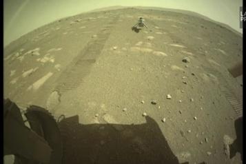 L'hélicoptère Ingenuity survit à sa première nuit seul sur Mars)