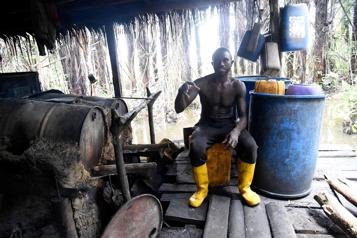 Nigeria L'ogogoro, vin de palme produit dans les mangroves