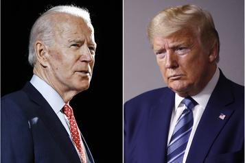 Alors que l'Amérique s'embrase, Trump et Biden se présentent aux antipodes)