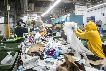 Important contrat pour les matières recyclables à Montréal