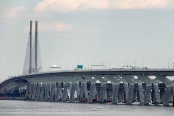 Le pont Samuel-DeChamplain fermé vers la Rive-Sud tout le week-end