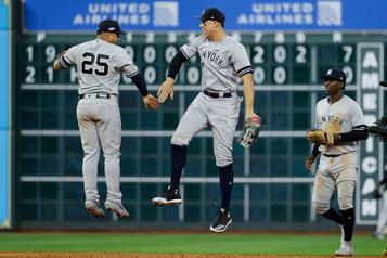 Les Yankees écrasent les Astros7-0