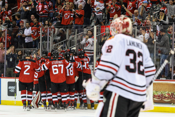 Les Devils ont le dessus sur les Blackhawks4-3