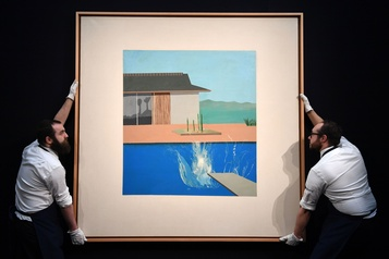 The Splash de David Hockney vendue 39,7 millions $