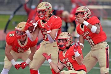 Le Rouge et Or prend une revanche de 45-2 sur le Vert & Or