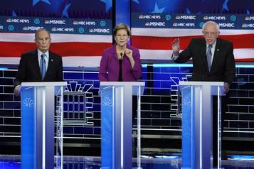 Michael Bloomberg assailli par ses rivaux pour son premier débat démocrate