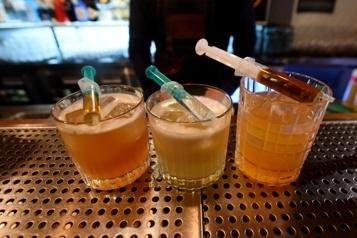 Cocktails inspirés des vaccins Envie d'un Pfizerr, d'un Monderna ou d'un Astra Zenecca ?)
