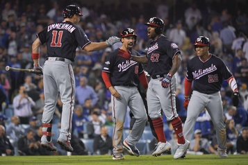 Les Nationals éliminent les Dodgers