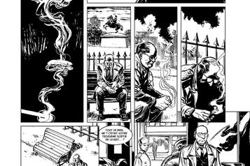 Bande dessinée – La bombe La science et le sang, en noir et blanc)