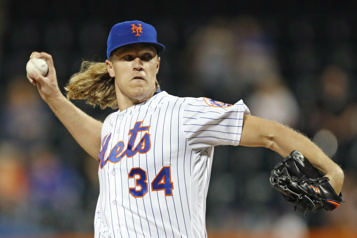 Mets de New York Première présence en deuxans pour le lanceur Noah Syndergaard)