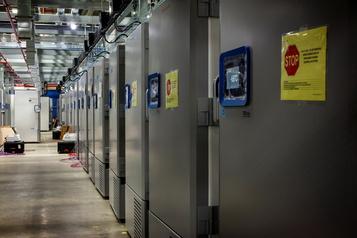 Avec congélateurs ou chambres froides, des entreprises se préparent pour le vaccin)