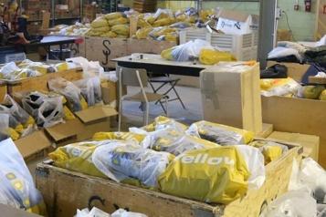 4500 paires de chaussures pour des familles)