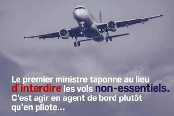 Publicité jugée offensante Le Bloc s'excuse auprès des agents de bord)