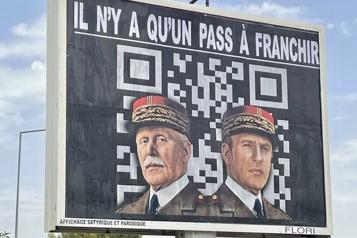 Macron représenté en Hitler Une amende requise contre un afficheur)