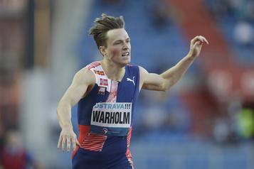 Athlétisme: Karsten Warholm «ralentit» un peu à Ostrava)