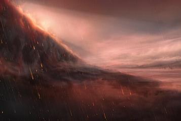 Pluie de fer sur une planète lointaine