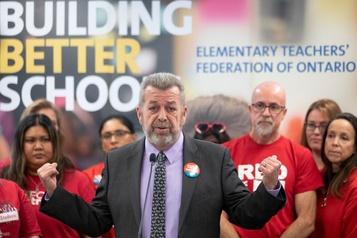 Ontario: les enseignants du primaire font la grève du zèle