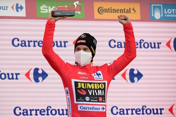 Tour d'Espagne Primoz Roglic en voie de défendre son titre, David Gaudu gagne la 17eétape)