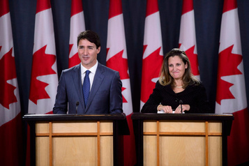 Cabinet Trudeau: de gros mandats pour Freeland et Champagne