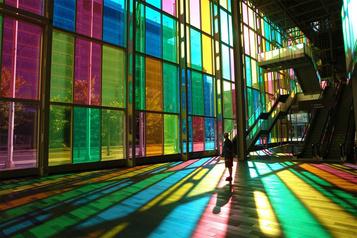Des œuvres exposées au Palais des congrès de Montréal