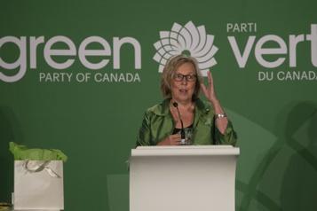 Parti vert du Canada Elizabeth May pourrait être cheffe intérimaire)