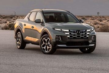 Le Hyundai Santa Cruz veutattirer une nouvelle clientèle vers la camionnette)