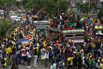 Colombie Nouvelles manifestations au 15ejour de la crise sociale)
