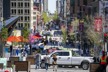 Centre-ville de Montréal La COVID-19, une occasion d'affaires pour certains commerçants)