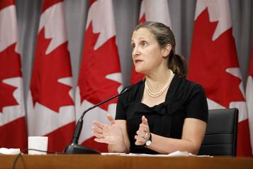 Aluminium: le Canada a des alliés de taille aux États-Unis, dit Freeland)