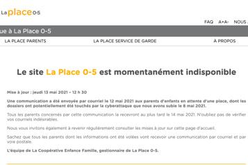 Fuite de données à la Place0-5 Québec ordonne la fermeture de l'accès à des services numériques)