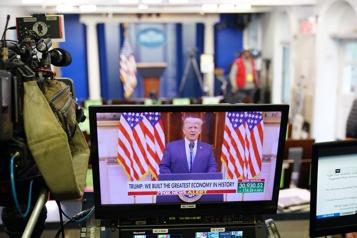 Les adieux de Trump truffés de faussetés)