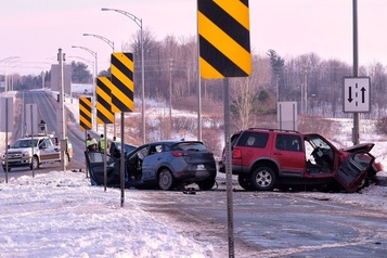 Outaouais: un mort et deux blessés dans un violent accident