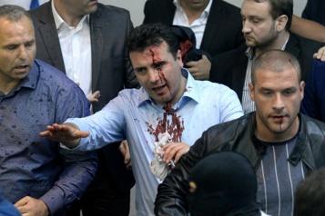 Macédoine du Nord Quatre hommes politiques condamnés pour une attaque au Parlement)