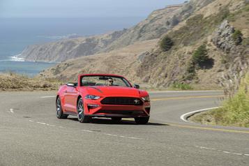 Banc d'essai Ford Mustang cabriolet : une auto nommée désir)