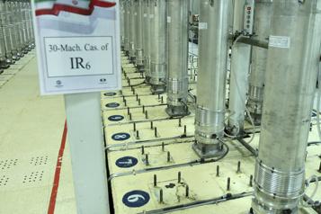Nucléaire L'Iran a commencé à produire de l'uranium à 60%)