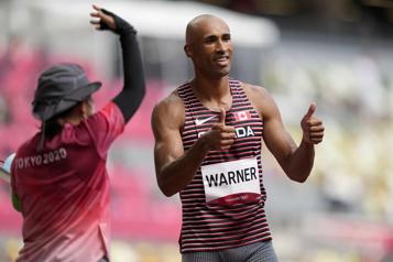 Athlétisme Spectaculaire départ de Damian Warner au décathlon)