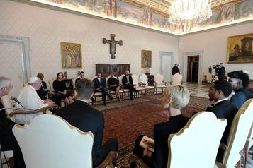 Racisme: le pape reçoit au Vatican des joueurs de la NBA)