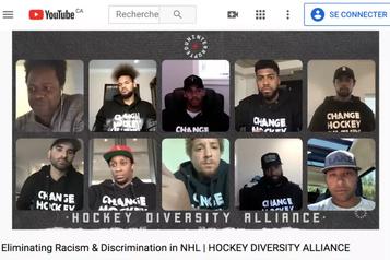 Un mouvement pour s'attaquer au racisme dans la culture du hockey)