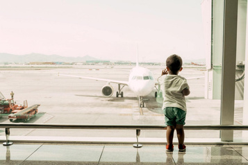 En avion avecbébé