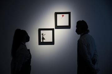 Un diptyque de La fille au ballon de Banksy vendu 5,25millions