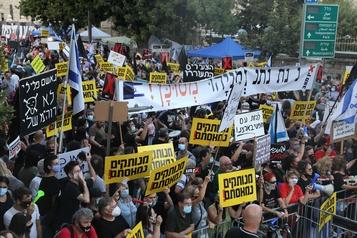 Israël: des milliers de personnes manifestent à Jérusalem contre Nétanyahou)