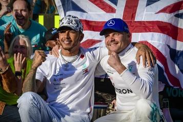 Lewis Hamilton et Valtteri Bottas dominent les essais